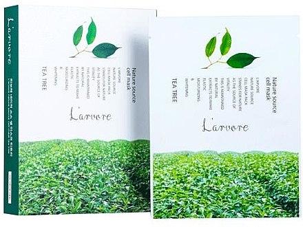 Тканевая маска для лица с чайным деревом - L`arvore Nature Source Cell Mask Tea Tree