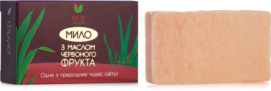 Мыло твердое с маслом красного фрукта - Red Natural Saop