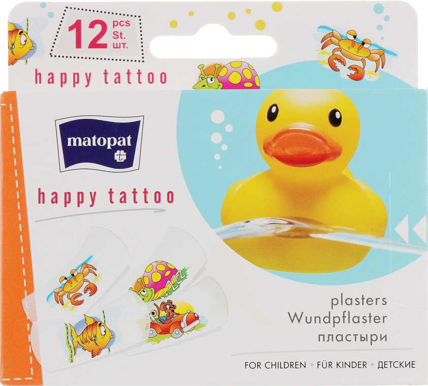 Медицинский пластырь Matopat Happy Tattoo - Matopat