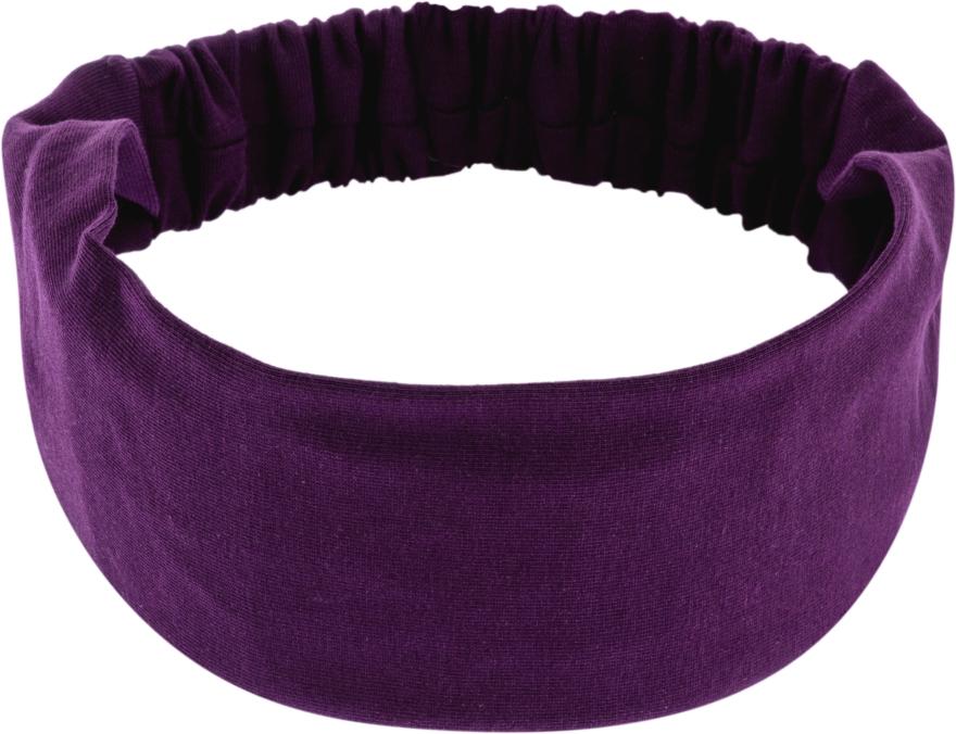 "Повязка на голову, трикотаж прямая, фиолетовая ""Knit Classic"" - Makeup Hair Accessories"