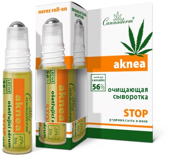 Сыворотка для обработки пораженных мест и профилактики угревой сыпи - Cannaderm Aknea
