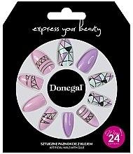 Духи, Парфюмерия, косметика Набор искусственных ногтей 3043, розовый с геометрией - Donegal Express Your Beauty