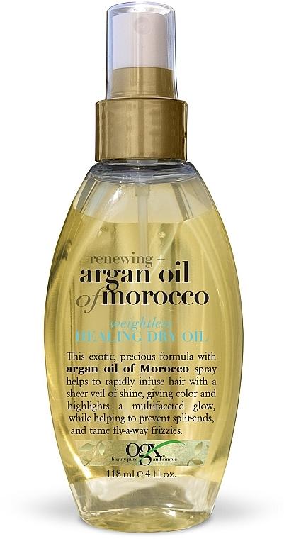 Легкое сухое аргановое масло-спрей Марокко для восстановления волос - OGX Argan Oil of Morocco Oil