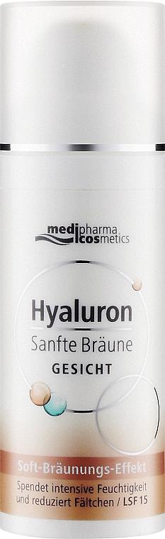 Дневной крем для лица с легким постепенным эффектом загара - Pharma Hyaluron Self-Tanning Face Cream SPF 15