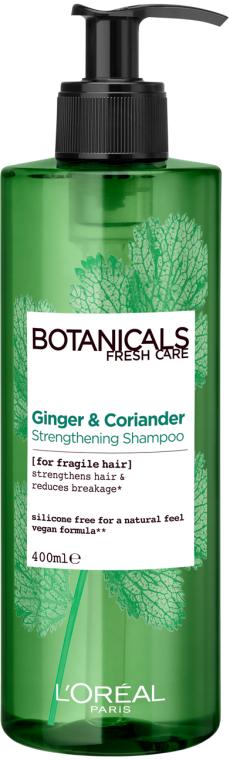 """Шампунь """"Имбирь и Кориандр, Источник Силы"""" для ослабленных и склонных к выпадению волос - L'Oreal Paris Botanicals Fresh Care Ginger & Coriander Strengthening Shampoo"""