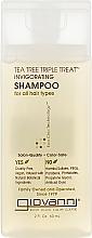 Духи, Парфюмерия, косметика Тонизирующий шампунь - Giovanni Triple Treatment Tea Tree Shampoo