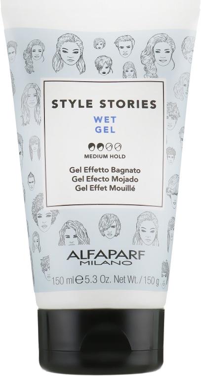 Гель для укладки с эффектом мокрых волос - Alfaparf Milano Style Stories Wet Gel