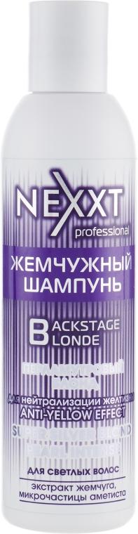 """Жемчужный шампунь """"Перламутровый блонд"""" - Nexxt Professional Backstage Blond"""