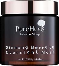 Духи, Парфюмерия, косметика Энергизирующая ночная маска с экстрактом ягод женьшеня - PureHeal's Ginseng Berry 80 Overnight Mask