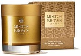Духи, Парфюмерия, косметика Molton Brown Mesmerising Oudh Accord & Gold Single Wick Candle - Парфюмированная свеча