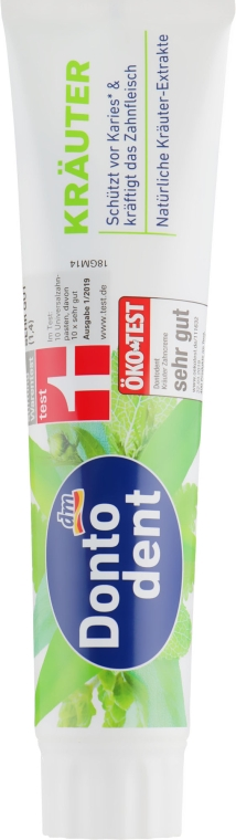 Зубная паста на основе целебных трав - Dontodent Krauter