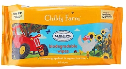 Духи, Парфюмерия, косметика Детские влажные салфетки - Childs Farm Biodegradable Wipes With Grapefruit And Tea Tree