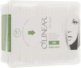 """Парфумерія, косметика Ватні палички """"Silk Touch Aloe Vera"""", у пластиковій упаковці - O`linear"""