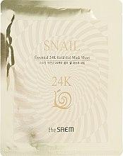 Духи, Парфюмерия, косметика Гелевая маска с муцином улитки и 24К золотом - The Saem Snail Essential 24K Gold Gel Mask Sheet