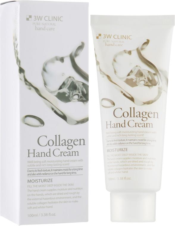 """Крем для рук с коллагеном """"Упругость и глубокое увлажнение"""" - 3W Clinic Collagen Hand Cream"""