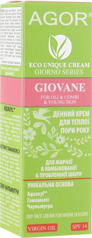 Крем дневной для жирной, проблемной и комбинированной кожи - Agor Giorno Giovane Day Face Cream