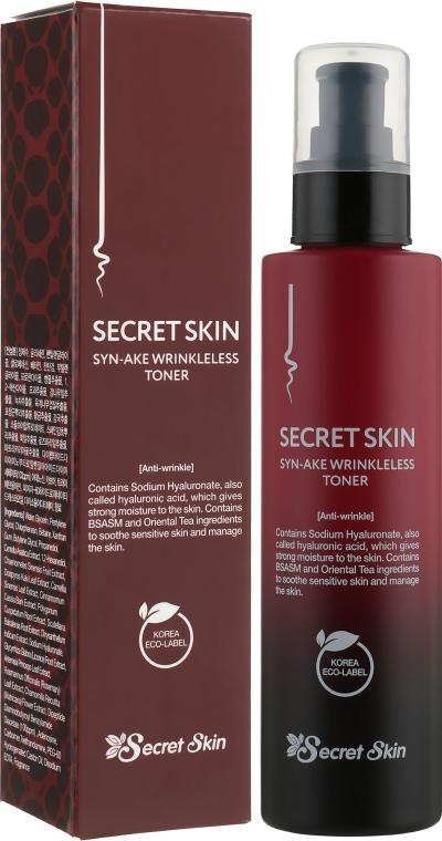 Secret Skin Syn-Ake Wrinkleless Toner - Тонер для лица с пептидами змеиного яда: купить по лучшей цене в Украине | Makeup.ua