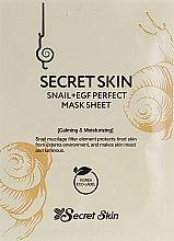 Духи, Парфюмерия, косметика Маска для лица с муцином улитки - Secret Skin Snail+EGF Perfect Mask Sheet