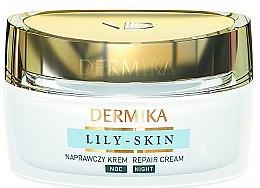 "Духи, Парфюмерия, косметика Крем для лица ""Восстанавливающий"" - Dermika Lily-Skin Repair Cream Night"