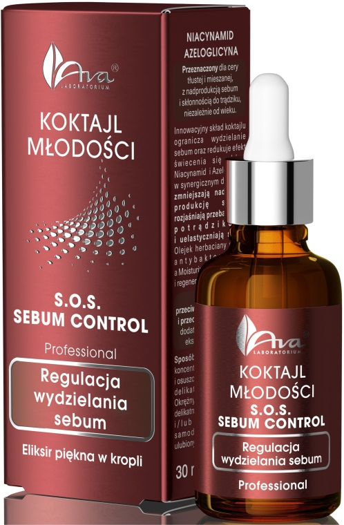 Сыворотка для лица - Ava Laboratorium Youth Cocktails S.O.S Sebum Control Serum