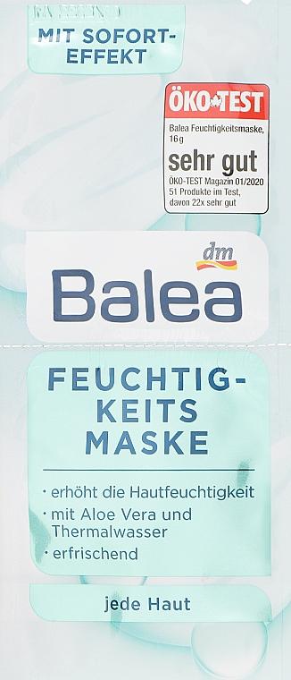 Маска для лица увлажняющая - Balea Facial Mask Moisturizing