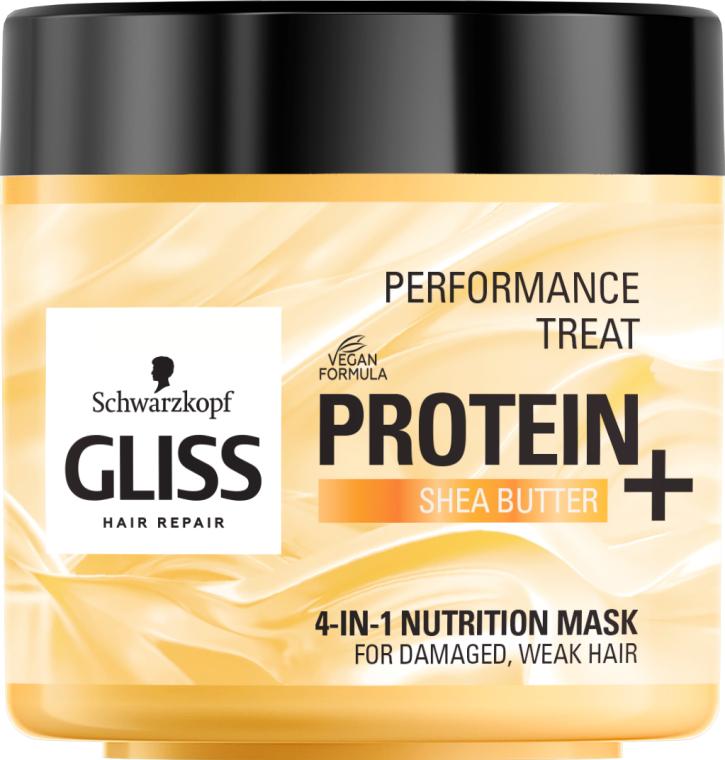 """Маска 4-в-1 """"Питание"""" для поврежденных, слабых волос - Gliss Kur Performance Treat"""