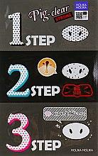Духи, Парфюмерия, косметика Средство для очистки пор с древесным углем - Holika Holika Pig Clear Blackhead 3-Step Kit (Strong)