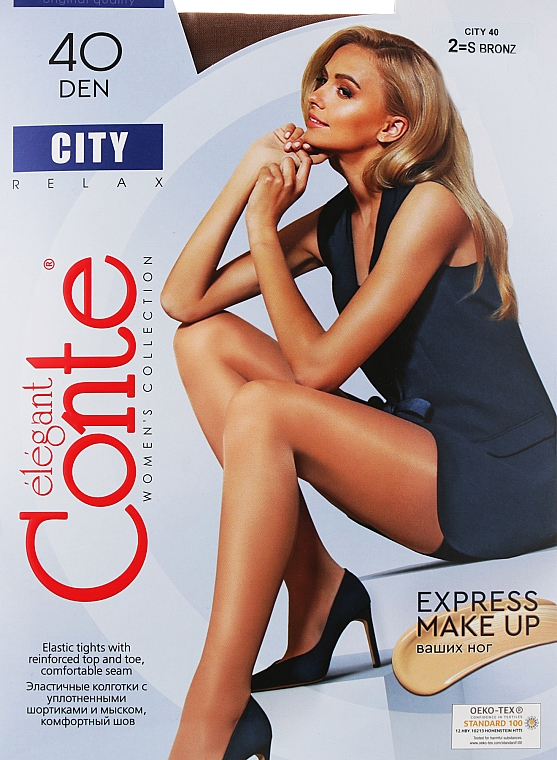 "Колготки ""City"" 40 Den, bronz - Conte"