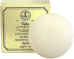 "Духи, Парфюмерия, косметика Мыло для бритья ""Сандаловое дерево"" - Taylor Of Old Bond Street Sandalwood Herbal Shaving Soap Refill"