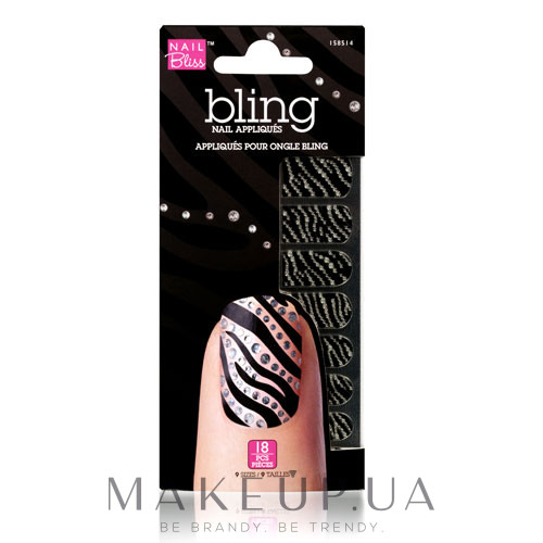 Аппликации для ногтей - Dashing Diva Nail Bliss Bling Nail Appliques — фото NBBN016
