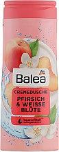 "Духи, Парфюмерия, косметика Крем-гель для душа ""Персик и Белый цветок"" - Balea Cremedusche Pfirsich & Weisse Blute"