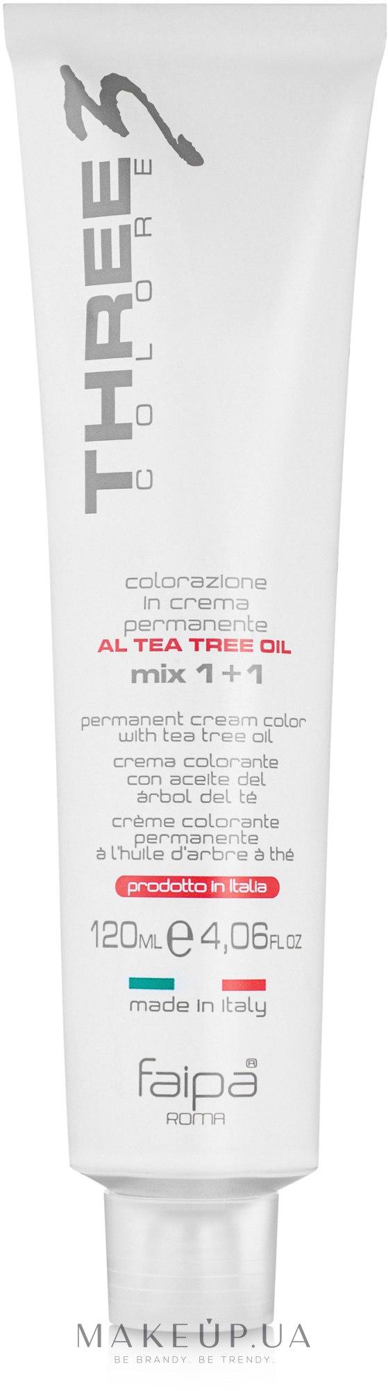 Краска для волос с маслом чайного дерева - Faipa Roma Three Colore Permanent Cream Color — фото N2