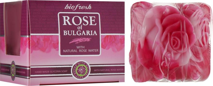 """Глицериновое мыло """"Роза"""", лилово-розовое - BioFresh Rose of Bulgaria Rose Glycerin Soap"""