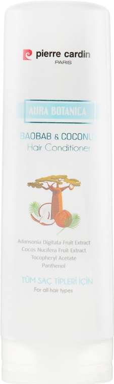 Кондиционер для волос с экстрактом баобаба и кокоса - Pierre Cardin Aura Botanica Coconut & Baobab Conditioner