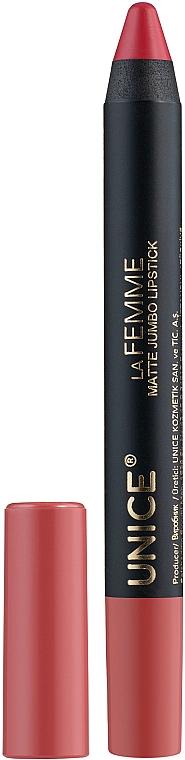 Помада-карандаш - Unice La Femme Matte Jumbo Lipstick