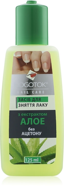 "Жидкость для снятия лака ""Экстракт Алоэ"" без ацетона - Nogotok Nail Care — фото N1"