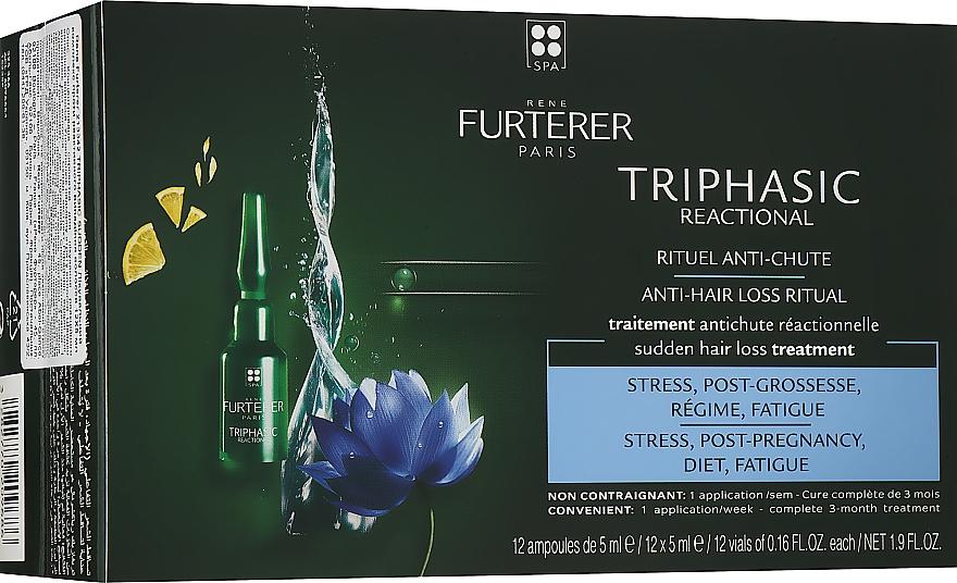 Концентрированное средство против выпадения волос - Rene Furterer Triphasic Reactional Anti-Hair Loss Ritual