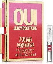 Духи, Парфюмерия, косметика Juicy Couture Oui - Парфюмированная вода (пробник)