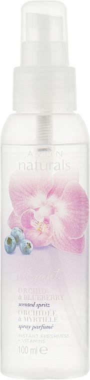 """Лосьон-спрей для тела """"Освежающий с витаминами С и Е. Пленительная орхидея и голубика"""" - Avon Naturals"""