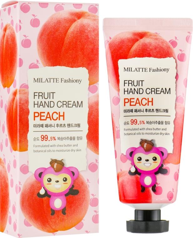 "Крем для рук ""Персик"" - Milatte Fashiony Fruit Hand Cream Peach"