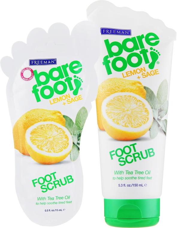 "Скраб для ног ""Лимон и шалфей"" - Freeman Bare Foot Foot Scrub Lemon and Sage"