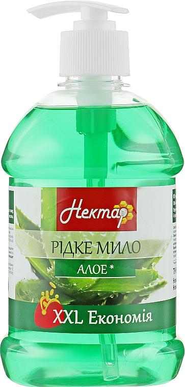 """Жидкое мыло с дозатором """"Алоэ"""" - Aqua Cosmetics Нектар"""