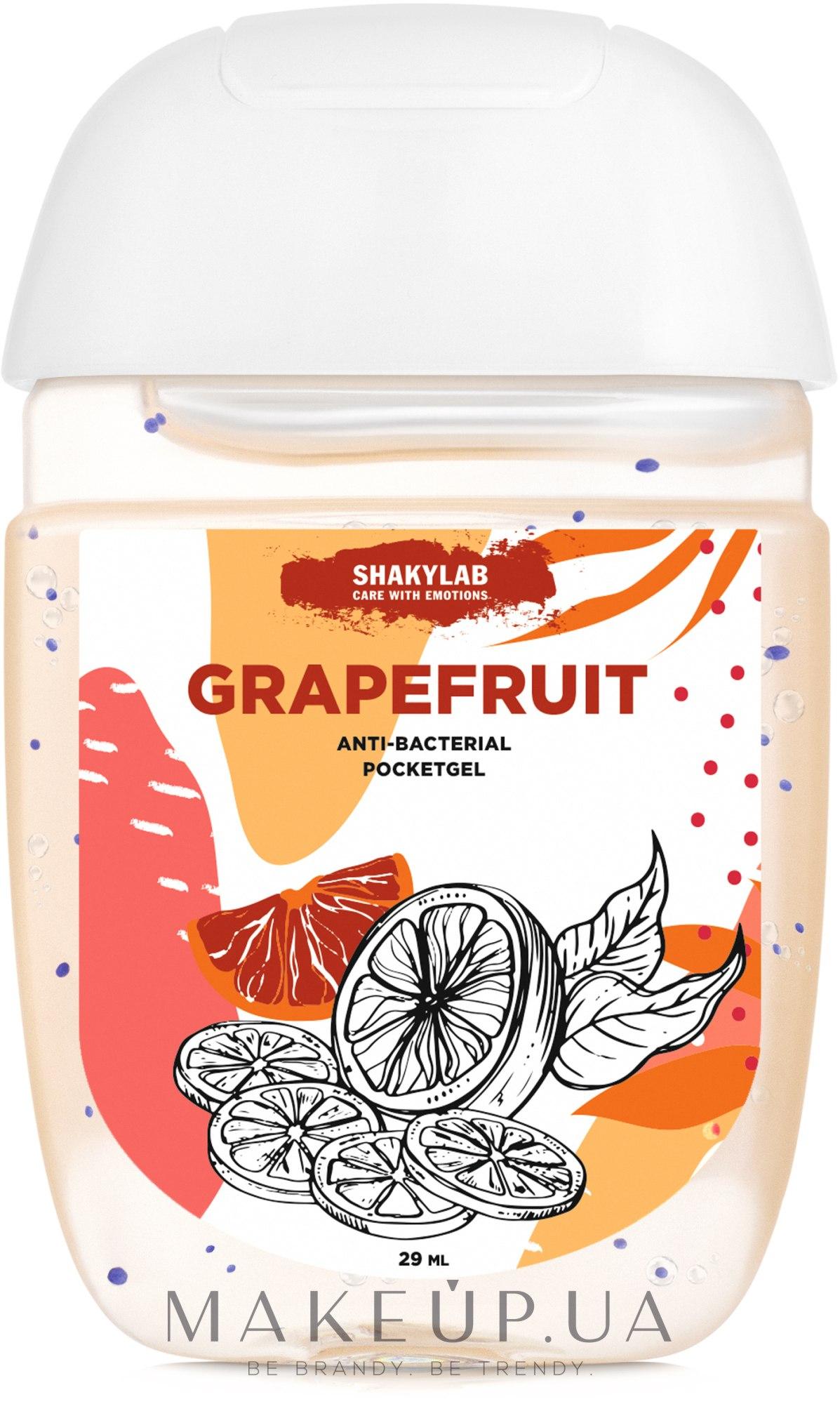 """Антибактериальный гель для рук """"Grapefruit"""" - SHAKYLAB Anti-Bacterial Pocket Gel — фото 29ml"""