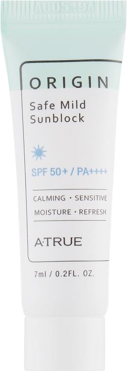 Безопасный мягкий солнцезащитный крем - A-True Origin Safe Mild Sunblock SPF50+/PA+++ (мини)