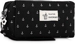 """Духи, Парфюмерия, косметика Косметичка """"Якорь"""", B122ANC, черная - Natural Style"""