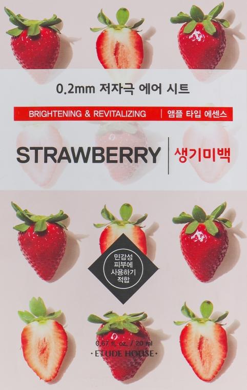 Ультратонкая маска для лица c экстрактом клубники - Etude House Therapy Air Mask Strawberry