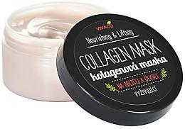 Духи, Парфюмерия, косметика Коллагеновая маска для лица и зоны декольте - Vivaco Collagen Mask Nourishing & Lifting