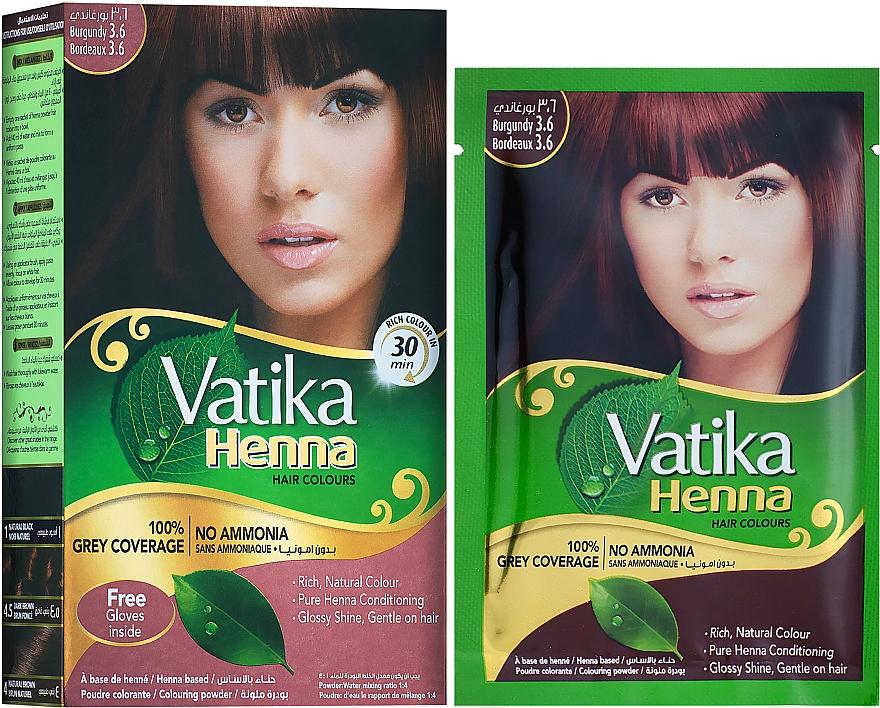 Натуральная краска для волос - Dabur Vatika Henna Hair Colours
