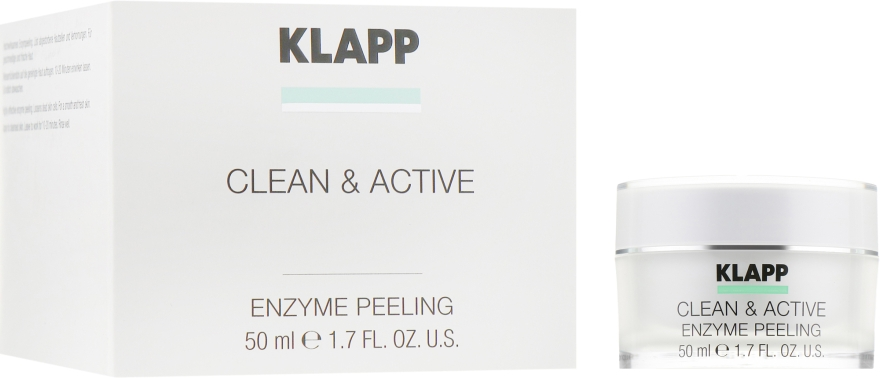 Энзимная маска-пилинг для лица - Klapp Clean & Active Enzyme Peeling