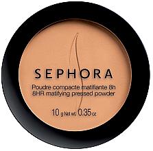 Духи, Парфюмерия, косметика Матирующая компактная пудра - Sephora 8hr Matifying Pressed Powder